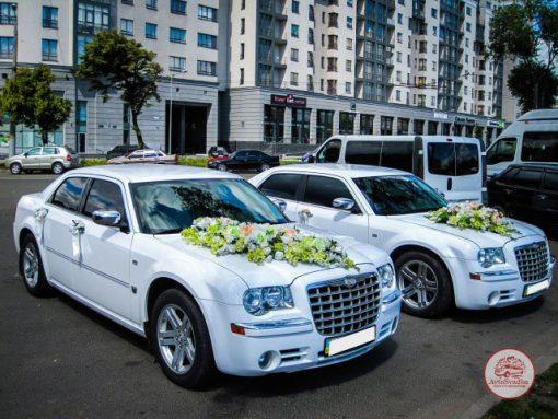 Авто на свадьбу - кортеж из двух Chrysler 300C