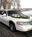 Лимузин Lincoln Town Car, на свадьбу, белого цвета